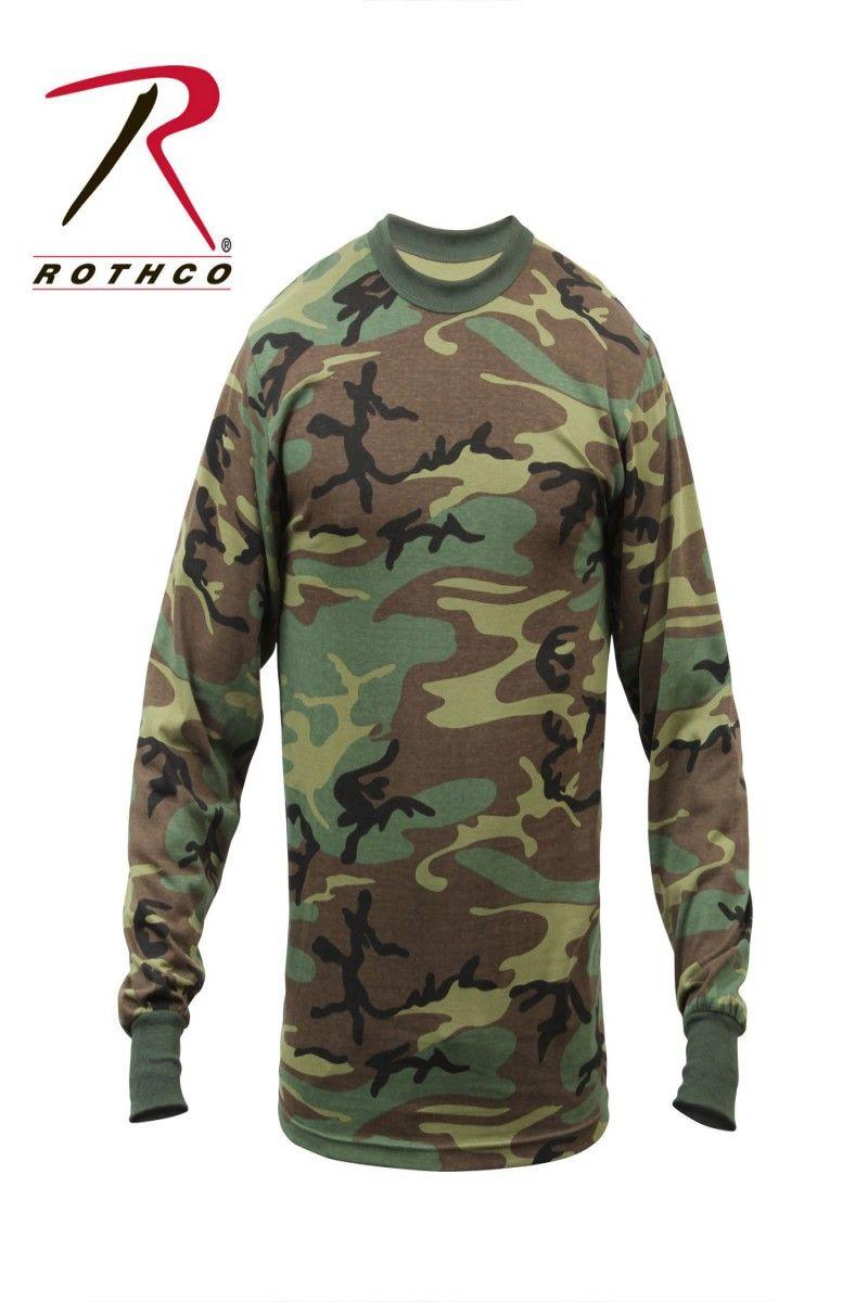 e80b5e002 12.99 | Rothco 6778 Long Sleeve Camo T-Shirt - Woodland Camo ❤ #rothco  #6778 #long #sleeve #camo #shirt #woodland #burton #zara #Antro #Over50