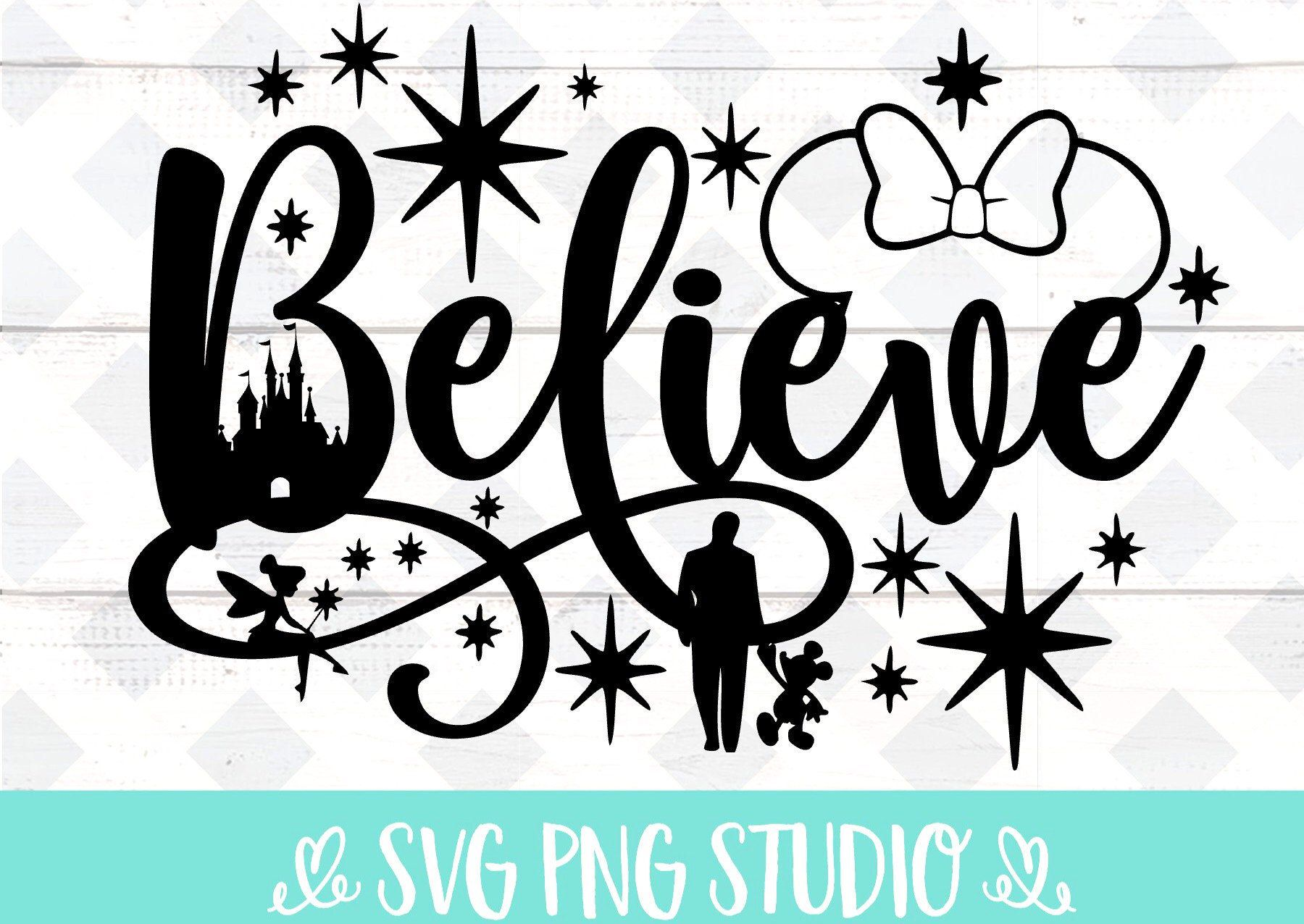 Believe In Magic Svg Inspired By Disney Svg Png Sublimation Etsy In 2020 Disney Decals Disney Diy Disney Silhouette