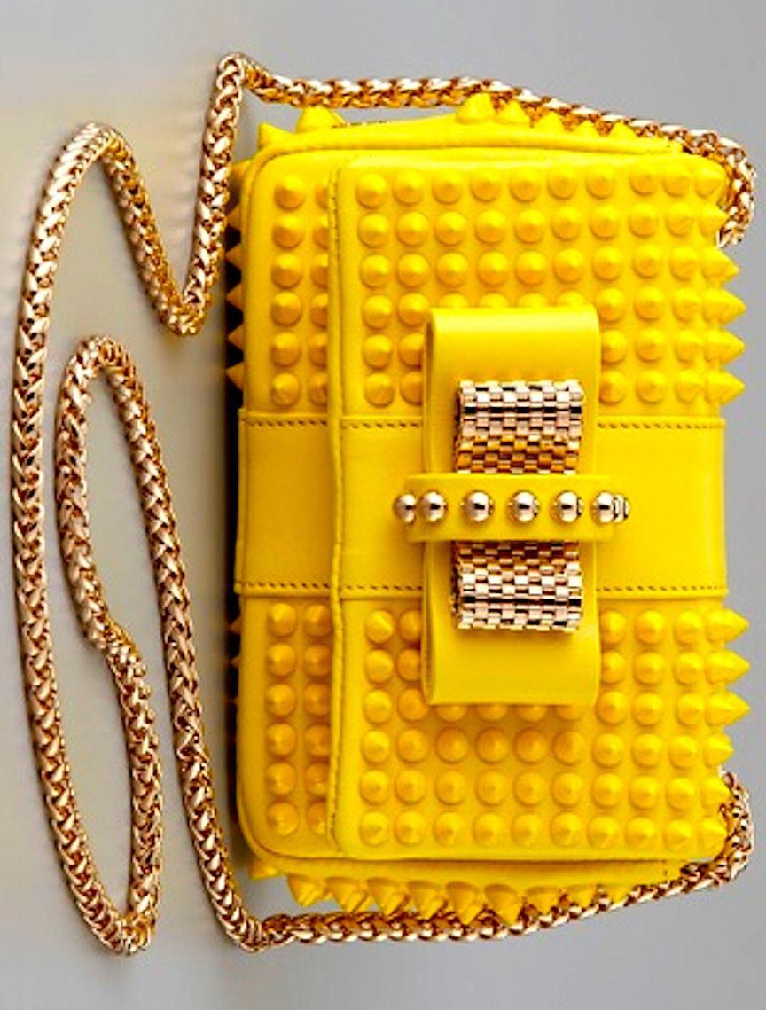 54fd5ae1685 Christian Louboutin Sweet Charity Mini Spiked Leather Shoulder Bag ...