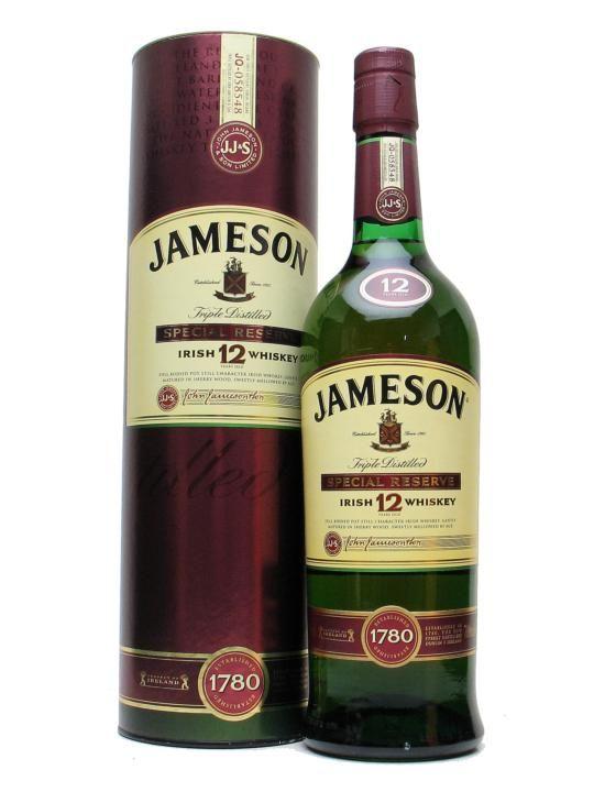 Jameson 12 Year Old Special Reserve Irish Whiskey Jameson Whiskey Whiskey