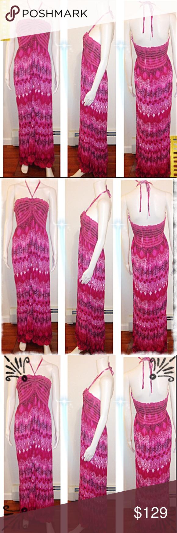 ✅Boho Halter Maxi Dress Rayon Boho Vibes Printed Colorful Maxi full ...