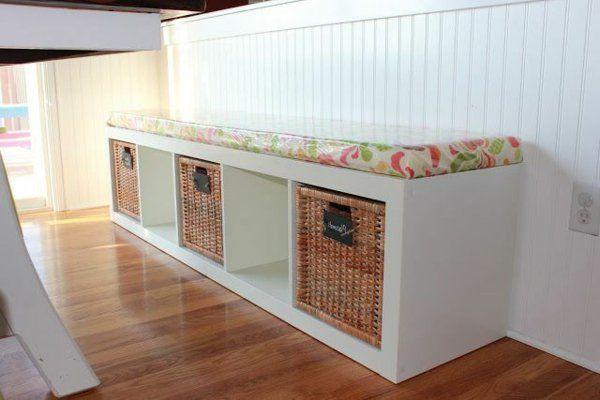 Esstisch mit Sitzbank holz körbe stauraum Esszimmer Pinterest - esszimmer mit sitzbank