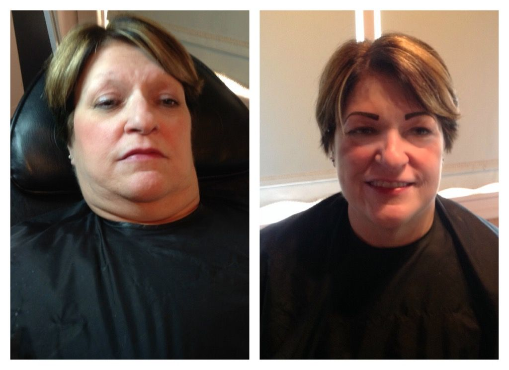 Before and after eyebrows and eyeliner by kelly
