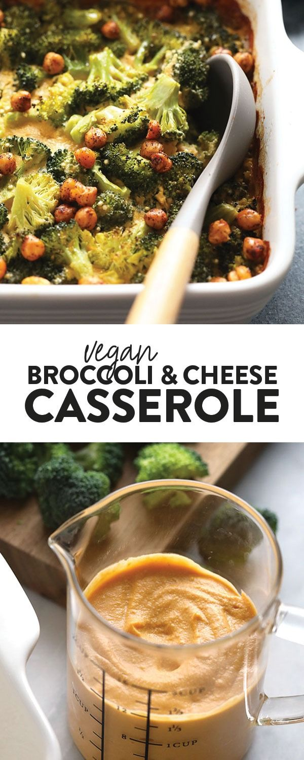 This healthy Vegan Broccoli and Cheese Casserole is packed with creamy vegan cheese, broccoli flore