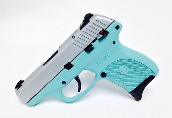 This One Is A Ruger Lc9 9mm Handgun Done In Silver And Tiffany Blue