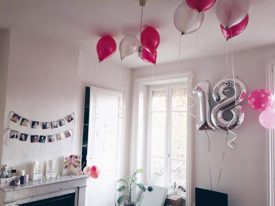 d coration anniversaire 18 ans birthday my diy pinterest decoration anniversaire. Black Bedroom Furniture Sets. Home Design Ideas