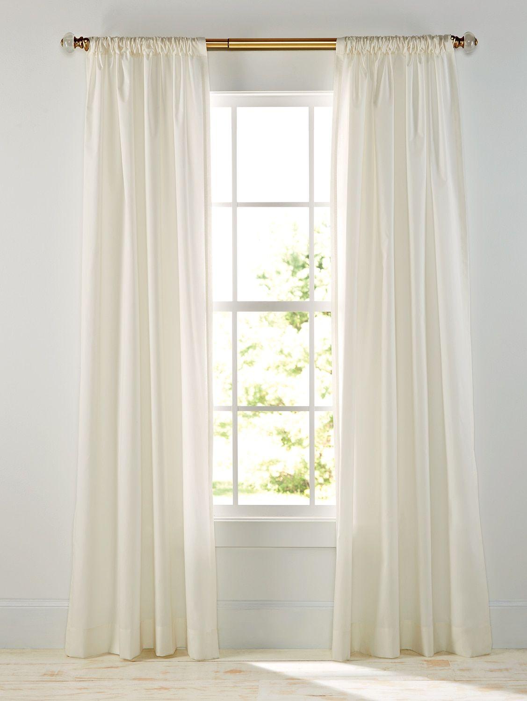 Plain And Simple Rod Pocket Curtain Panels Pair Rod Pocket
