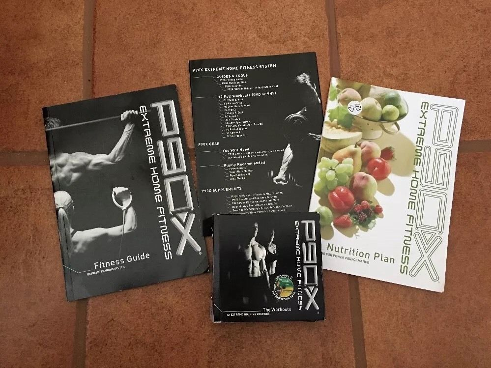 P90X Extreme Home Fitness DVD Workouts Nutrition Plan Book