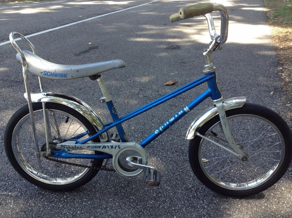 735f92e92d4 Schwann Stingray Pixie Vintage Kids Bike Sky Blue 70s All Original 16