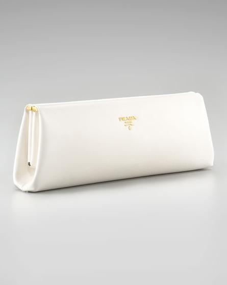 46775686fd8a the perfect white prada clutch | purse-istant | Prada clutch ...