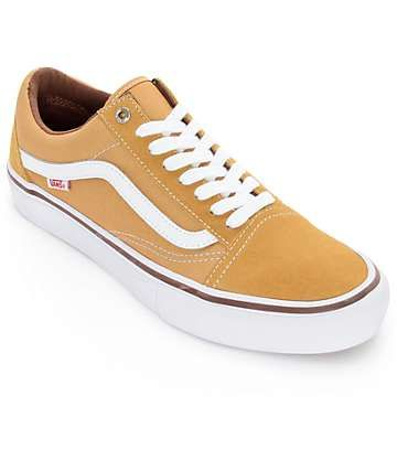 Vans Old Skool Pro Amber & White Shoes | Shoes, Vans, Yellow