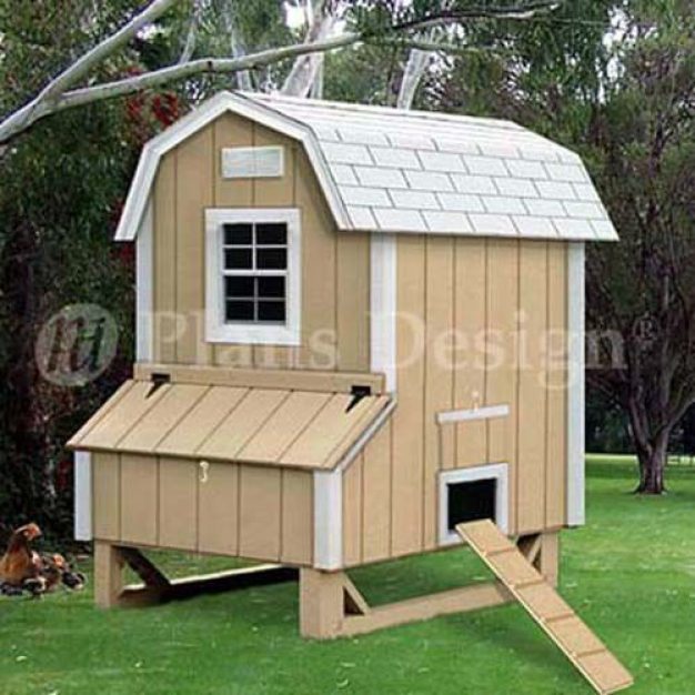 Barn Chicken House Coop Plans Material List Included #90406B 4/'x6/' Gambrel