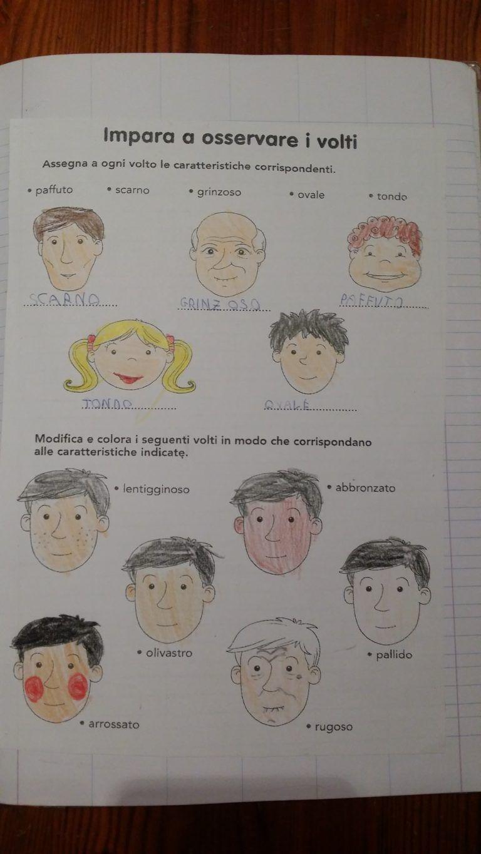 testo descrittivo maestra carmelina italiano