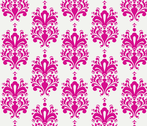 Duchess Damask - Fuschia fabric by lifestyleduchess on Spoonflower - custom fabric