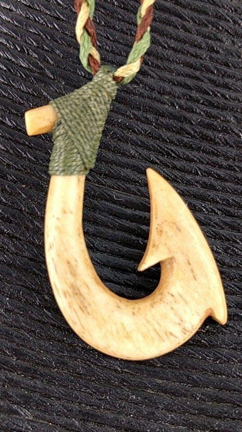 Hawaiian Black Horn Fish Hook Mega Xxl Nui Necklace Pinterest
