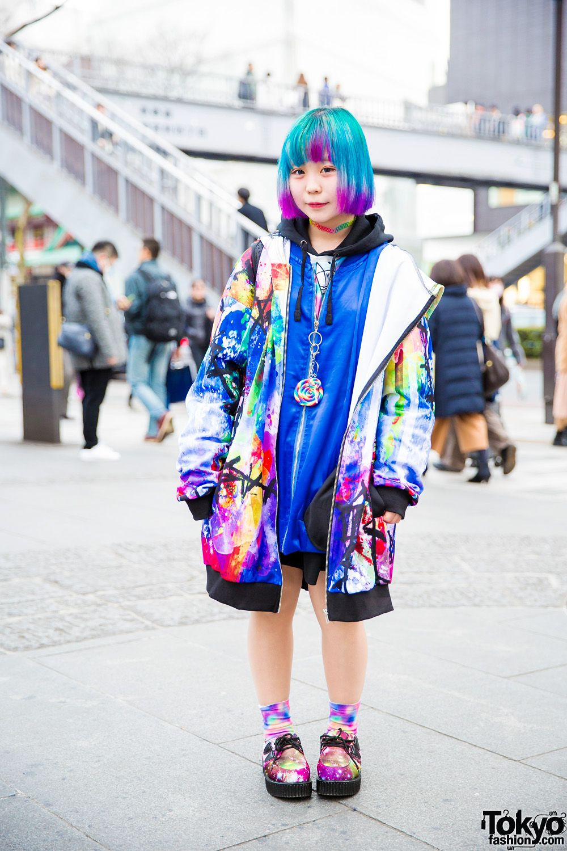 Super Colorful Harajuku Street Style W/ AnkoROCK, Gekirock