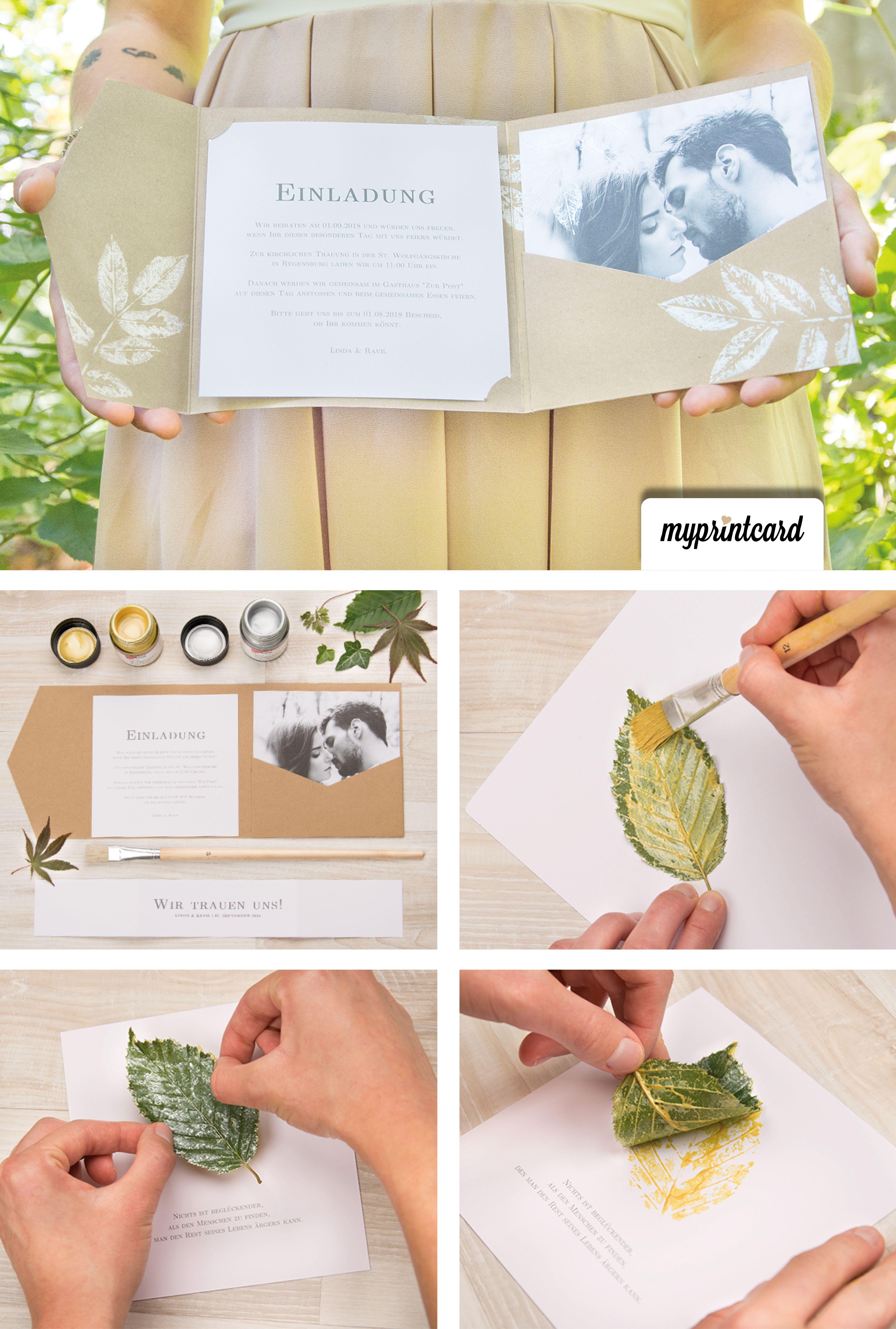 Blätter Als Stempel Greenery Für Eure Edlen Pocketfolds