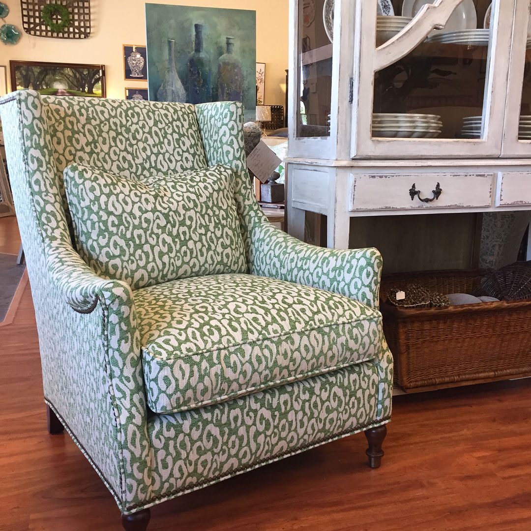Green Leopard Chair Accent Chair Furniture Ideas Furniture