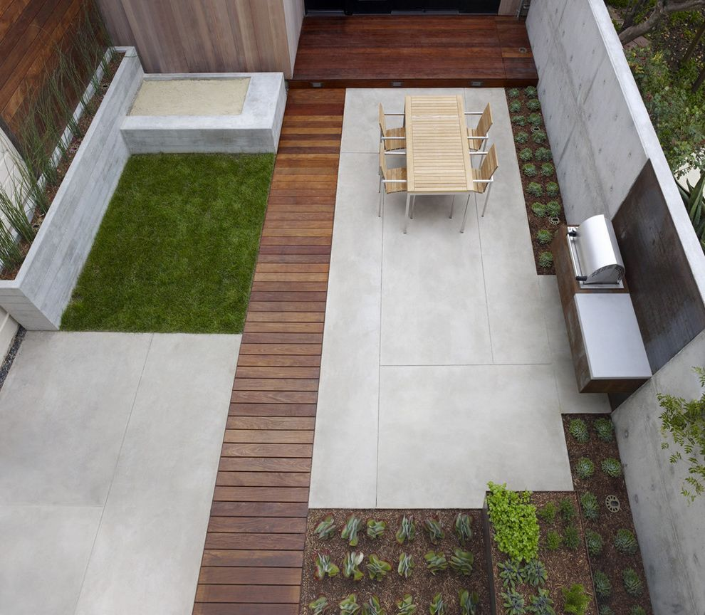 Concrete Contractors San Diego With Contemporary Patio Also Geometric Minimal Narrow Outdoor Dining Planters Sandbox Stainless Steel Grill Stone Wall Tile Wood Poured Concrete Patio Concrete Patio Designs Paint Concrete Patio