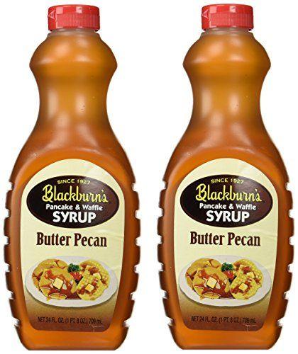 Blackburns Pancake Waffle Syrup Butter Pecan Flavor 24 Oz