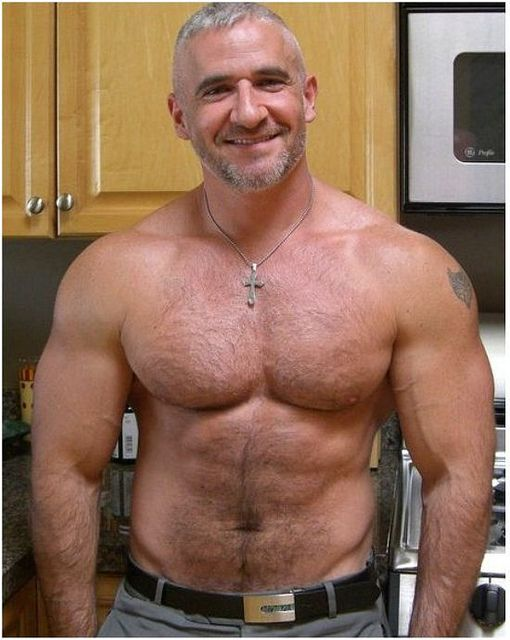 daddy Hairy hunk muscle