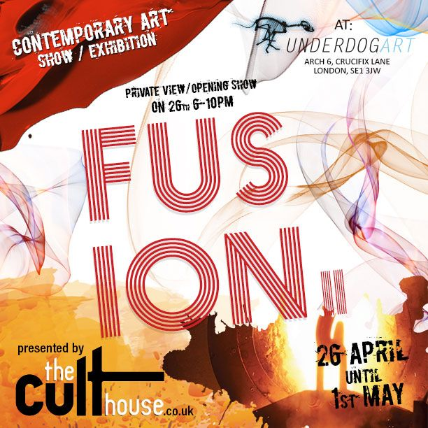 """FUSION II – Contemporary Art Show – by @The_Culthouse ""  @JANeto72 #exhibition #london #art"