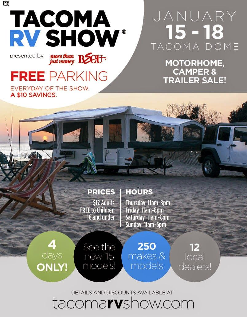 Tacoma Dome Rv Show Info Discount Coupons Trailers For Sale Rv Show Tacoma Dome