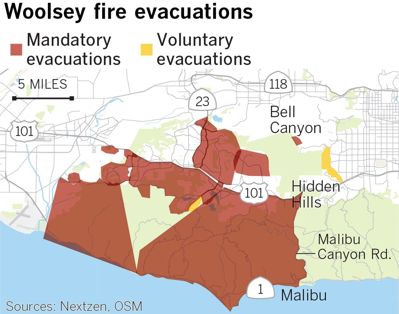Woolsey Fire Forces Mass Evacuations From Malibu To Calabasas Many Homes Lost As Fire Grows To 10 000 Acres Fire Topanga Canyon Calabasas