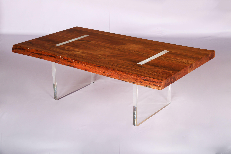 Lucite Base Live Edge Acacia Wood Coffee Table Coffee Table Wood Live Edge Furniture Live Edge Acacia [ 3840 x 5760 Pixel ]