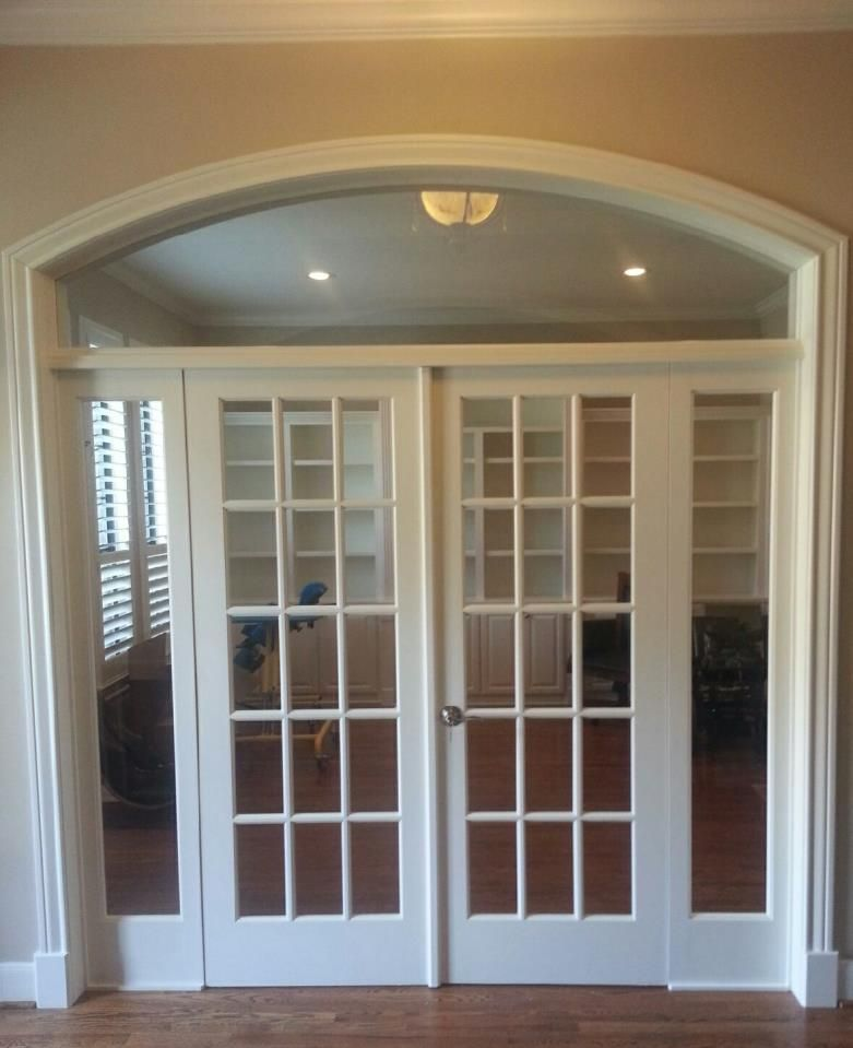 Interior french doors transom carpenters cabinet makers for French doors with sidelights home depot