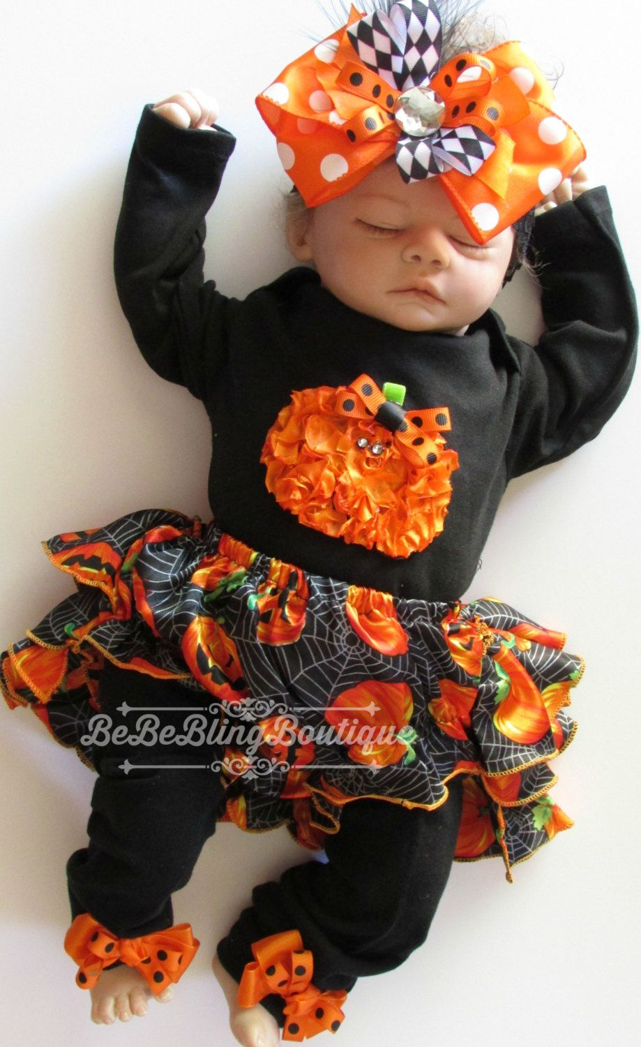 Baby Girl Halloween Costume Outfit Bloomer set Newborn