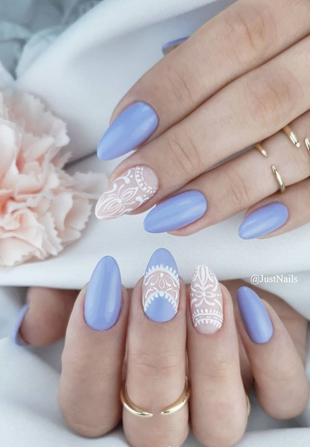 48 Hot Short Acrylic Almond Nails Design You Must Try Almond Nails Almond Nails Designs Summer Almond Nails Designs