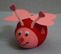 Styrofoam Lovebug Craft