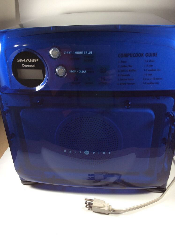 Sharp Half Pint Carousel Compact 0 5 Cu Microwave Oven Blue