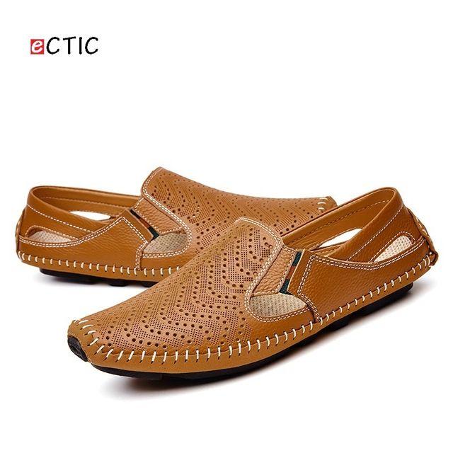 Mocasines Cuero para Caminar Zapatos de Cuero Mocasines Ocasionales de los Hombres 783bb7