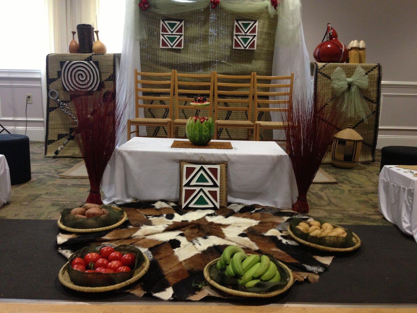 Simple traditional wedding decor ideas rwandan for Traditional wedding decor ideas