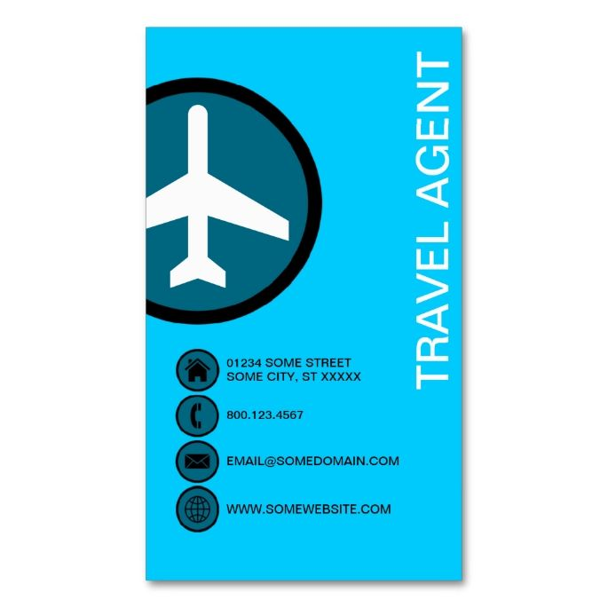 Travel Agent Bubbles Business Card Zazzle Com With Images