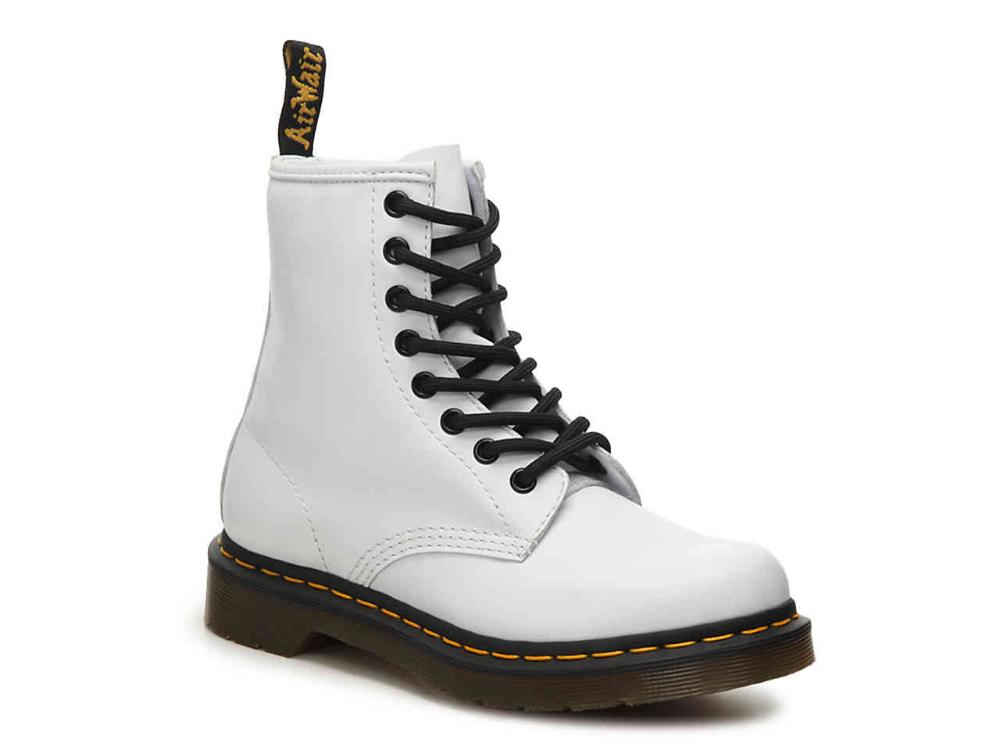 doc martens white combat boots