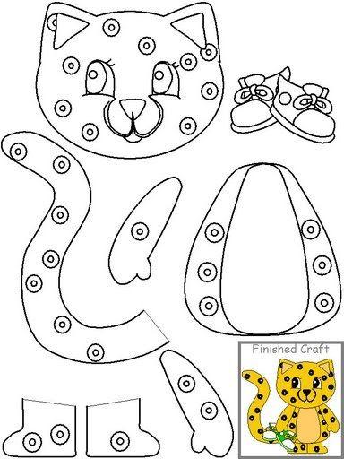 Colorir Recortar E Montar Animais Animais Para Colorir Projeto