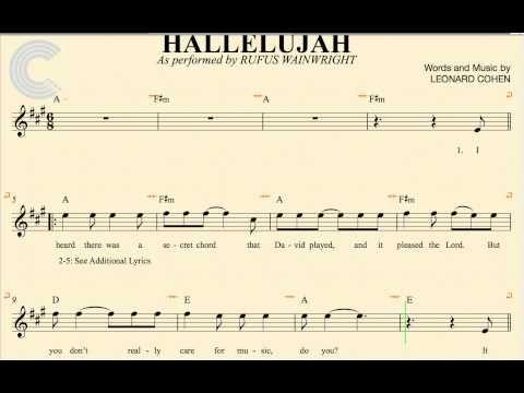 Alto Sax - Hallelujah - Rufus Wainwright - Sheet Music, Chords, & Vocals - YouTube