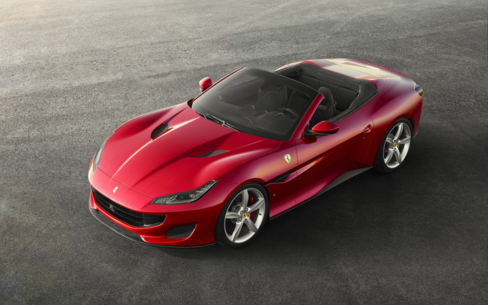Download Wallpapers 4k Ferrari Portofino 2018 Cars Italian Cars