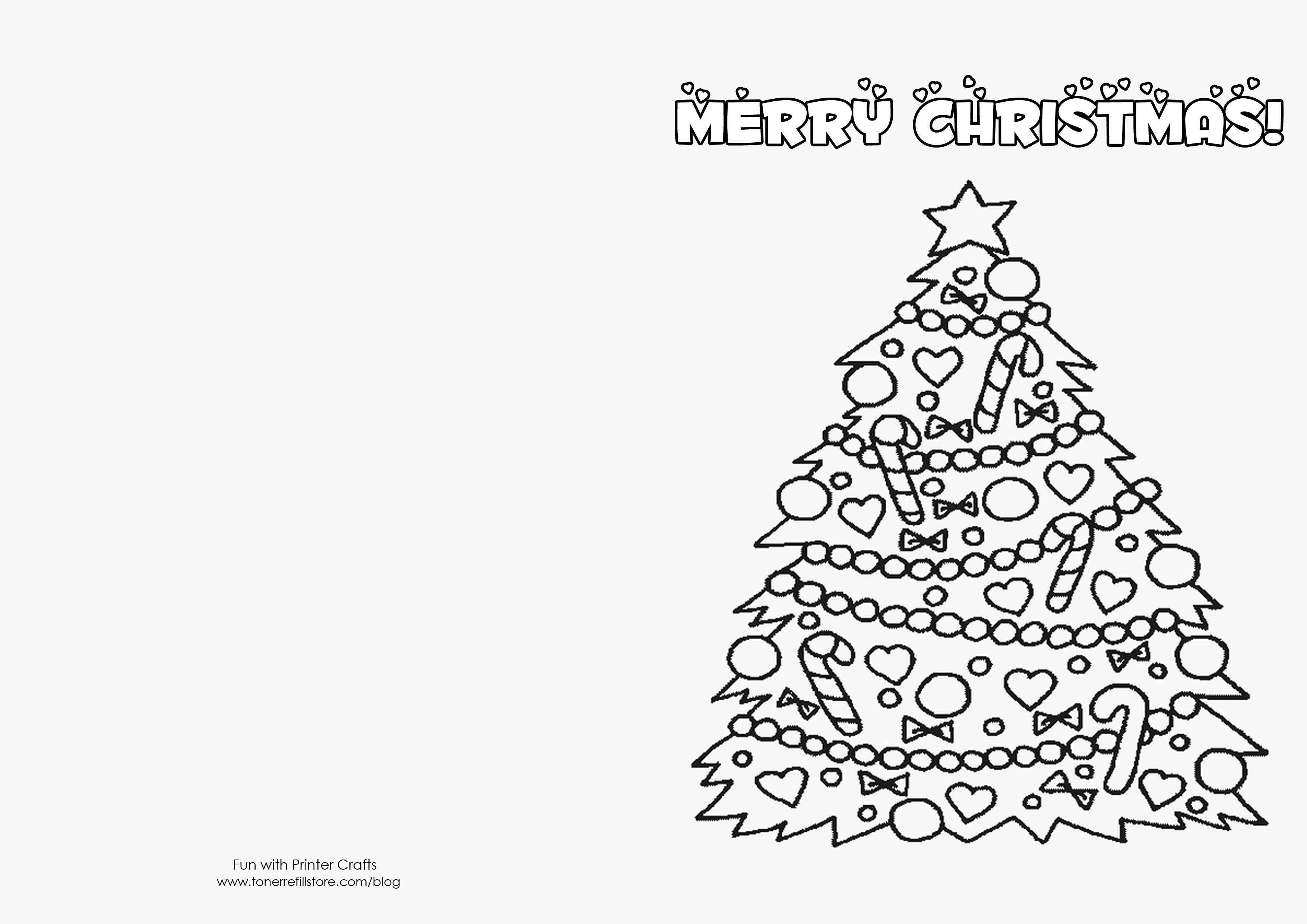 How To Make Printable Christmas Cards For Kids To Color