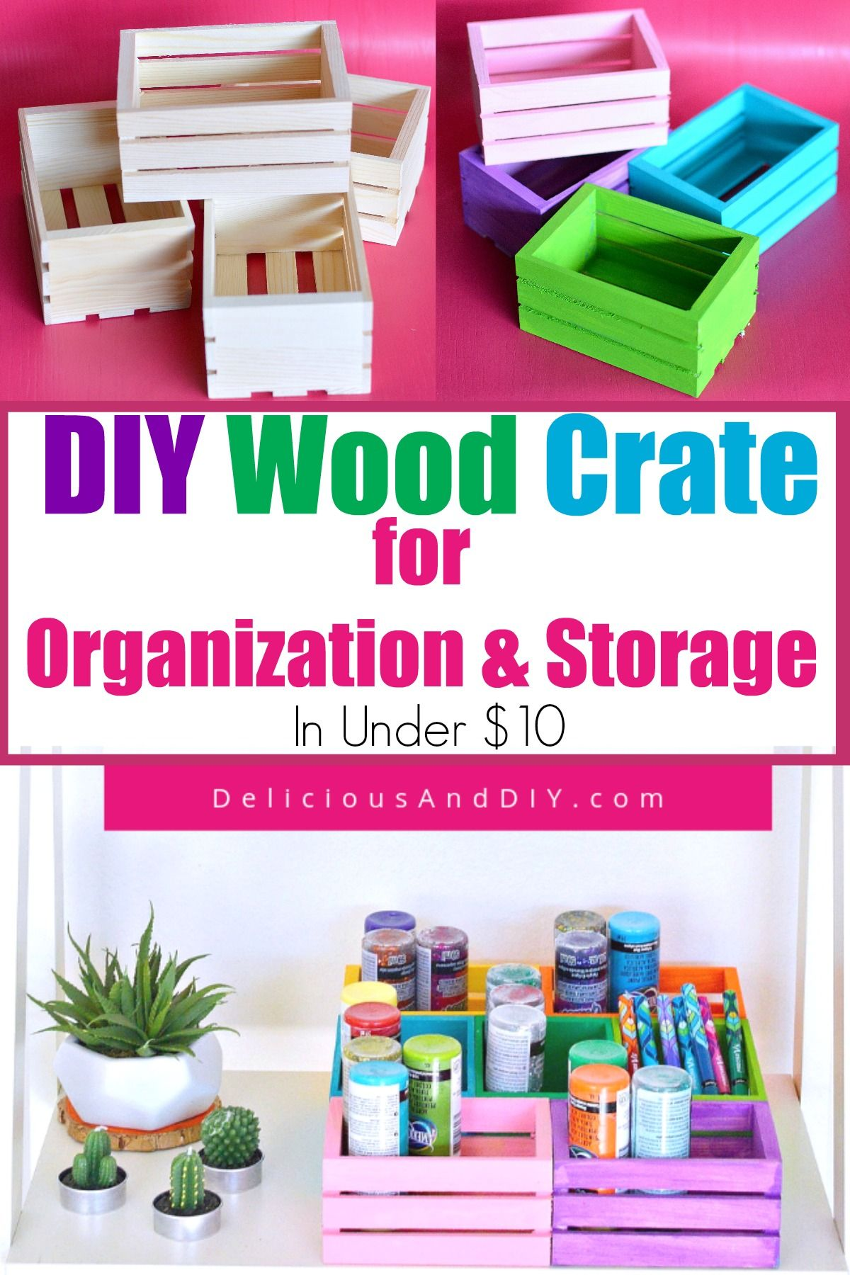 Diy mini wood crates organizer wood crates crates diy