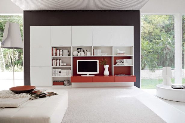 Best Way to Decorate Living Room: Shiny Interior Living Room Design With Red Accent ~ kateobriens.com Living Room Inspiration
