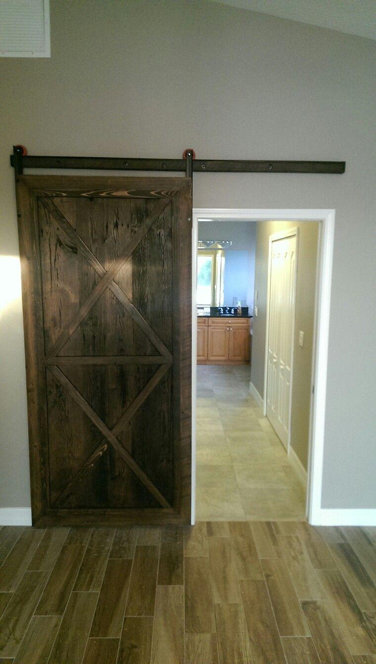 I made this barn door