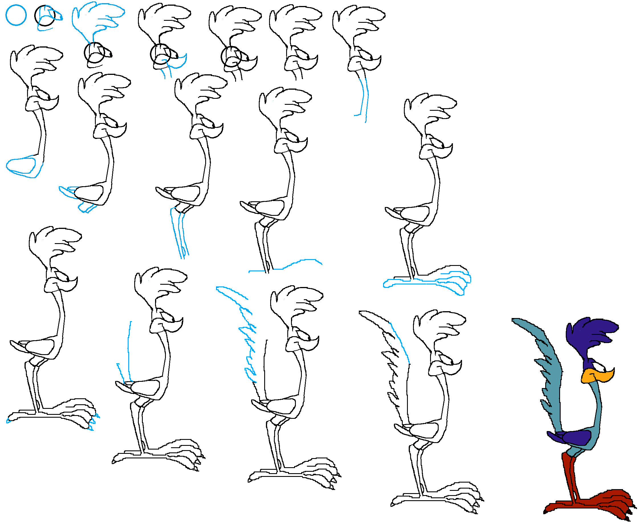 how to draw looney tunes step by step Google Search