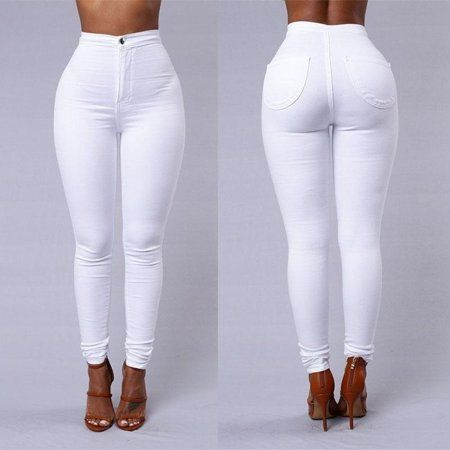 Women's Pencil Stretch Pants Cotton Skinny Jeans P