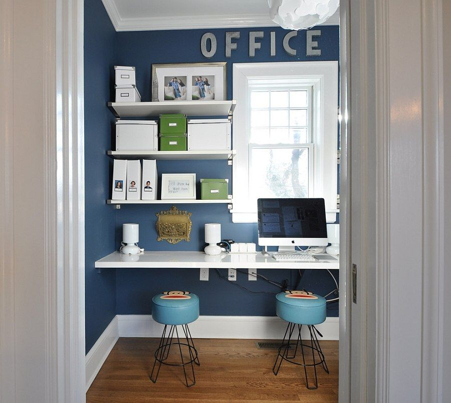 Good 10 Eclectic Home Office Ideas In Cheerful Blue