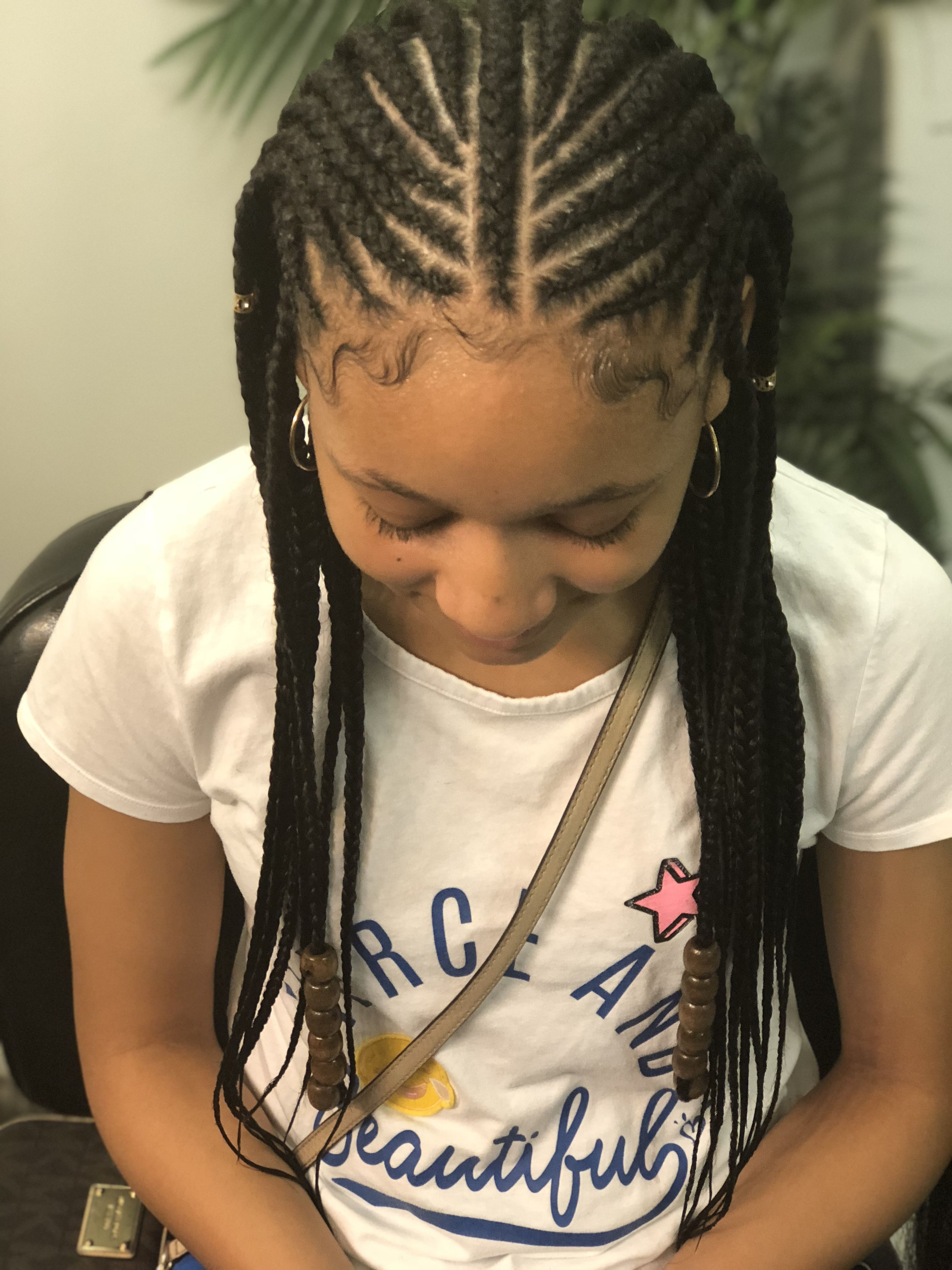 Two Layer Braids Kids Hairstyles Kid Braid Styles Cornrows