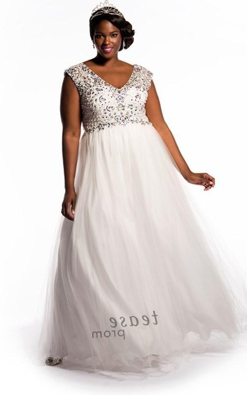 White plus size prom dresses - http://pluslook.eu/wedding/white-plus ...